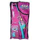 Pink Camo Kids Fishing Tackle Bag Kit, Telescopic No Tangle Fishing Rod/Reel Combo, Tackle Box,...