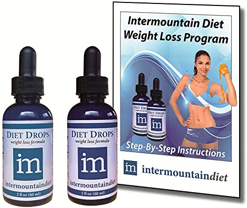 Intermountain Diet Drops, Complete Weight Loss System, 60-Day Supply, Lose 1 to 2 lbs per Day - Guaranteed