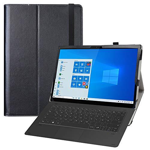 LFDZ Lenovo Yoga Duet 7 Funda,Soporte Cuero con Slim PU Funda Caso Case para 13' Lenovo Yoga Duet 7 13IML05 Tablet(Not fit Other Models),Negro