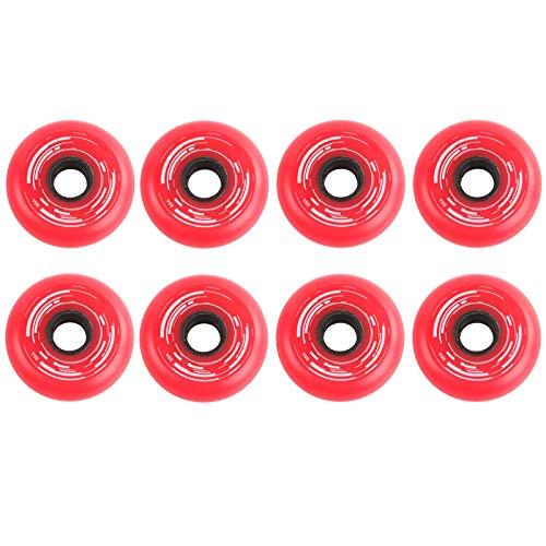 Inline Skates Rollen, 88a, Ersatz-Rollschuh Inline Skaterad, FüR Rollhockey Slalom Freestyle Skates, Geeignet FüR Junge Leute 8-Packs(red80mm/3.15inches)