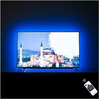 "HAMLITE HAMLITE LED TV Backlight 60 65 Inch TV Bias Lighting, Custom USB TV Light Strip to Cover 4/4 Sides of 60 65"" TVs W..."