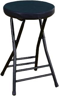 UCYG Silla Plegable Cocina Ligera Metal, Sillas Plegables Oficina Camping Jardin Exterior, Carga Máx 150 kg, 47x31x31cm (Color : Black)