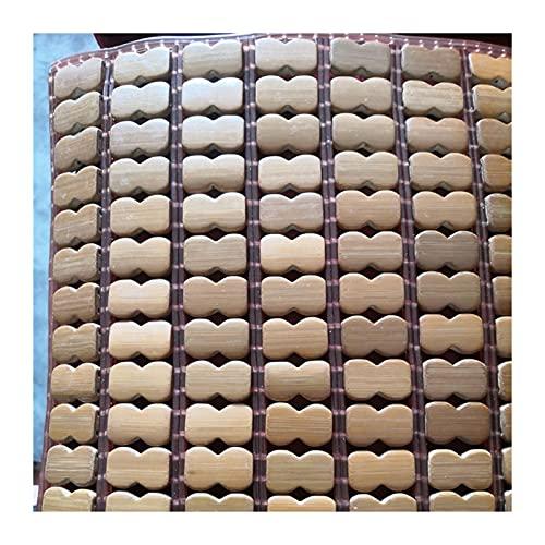 YJFENG Cojines De Respaldo Y Asiento, Liso Respirable Bambú Cool Mat, Silla Sofá Seccional Cubiertas, De Múltiples Fines Almohadilla De Verano para Asiento De Coche Mascota