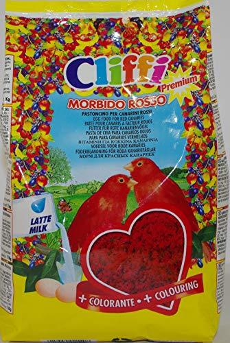 Cliffi Morbido Rosso Pastoncino per Canarini Rossi Confezione da 1 kg