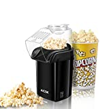 Hot Air Popcorn Maker, Aicok 1200W Retro Popcorn Machine, Healthy and Fat-Free Popcorn