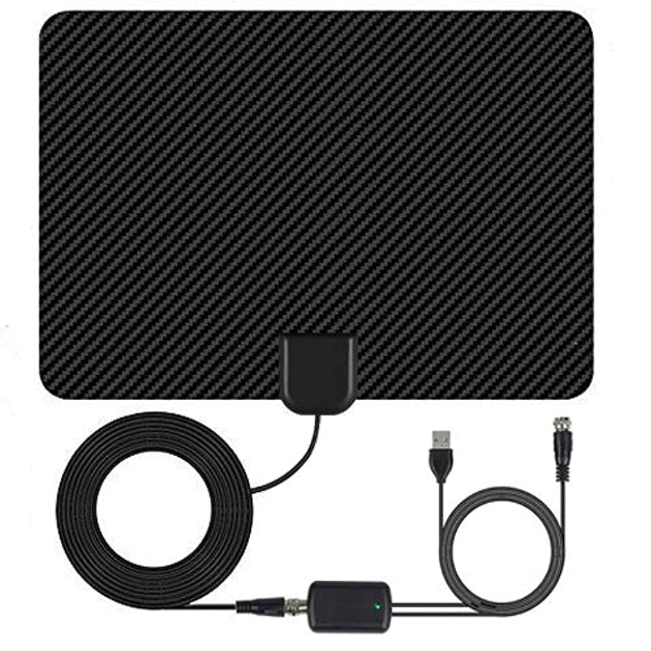 Bobe 1byone Digital Amplified Indoor HD TV Antenna Support 4K 1080P 50~90Mile Long Reception Range 13.2ft High Reception Coax Cable
