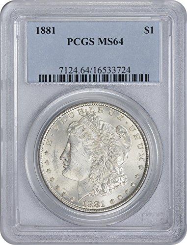 1881-P Morgan Silver Dollar, MS64, PCGS