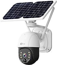 XVIM 1080P PTZ Solar Security Camera Outdoor, 360°...