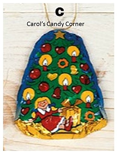 Storz Chocolate Assorted Solid Milk Chocolate Christmas Tree Ornaments - 10 Pcs