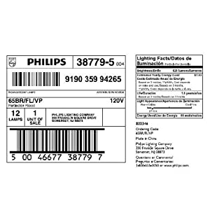 Philips Indoor Dimmable BR40 Flood Light Bulb: 2710-Kelvin, 65-Watt, Medium Screw Base, Soft White, 12-Pack
