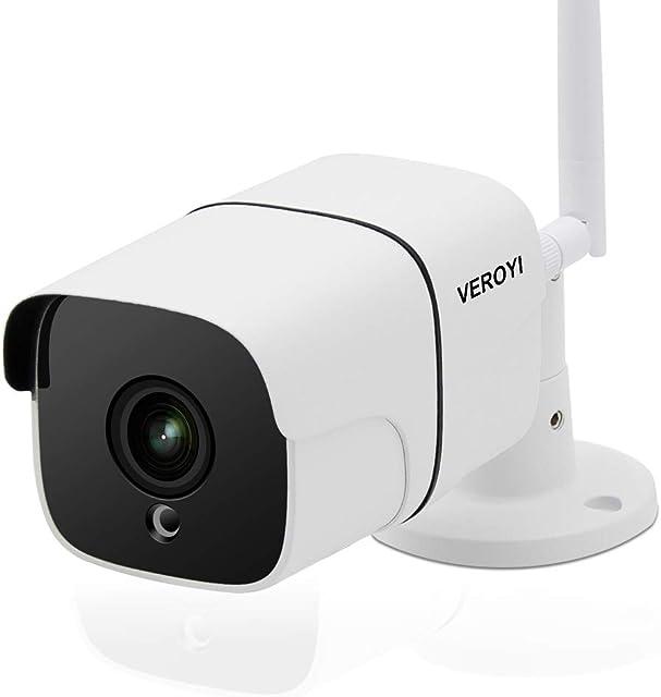 Cámara de Seguridad para Exteriores Veroyi cámara de vigilancia WiFi 1080P con detección de Movimiento de Audio de visión Nocturna de 2 vías