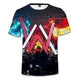 Rugby clothing boutique Q T-Shirt, Musique Unisexe Walker-thème Youth Sports T-Shirt Mince Couple Manches Courtes Casual Top col roulé, Manches Courtes for Enfants (Color : Multi-Colored, Size : S)