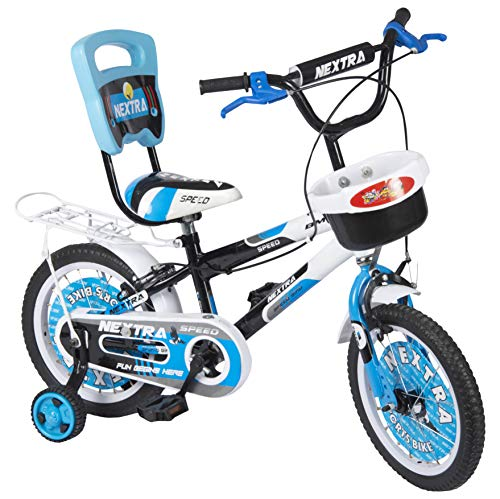 Speed Brid 14-T NEXTRA with Back Carrier Kid Bicycle Baby Cycle for Boys & Girls - Age Group 3-6 Years (Sky Blue)