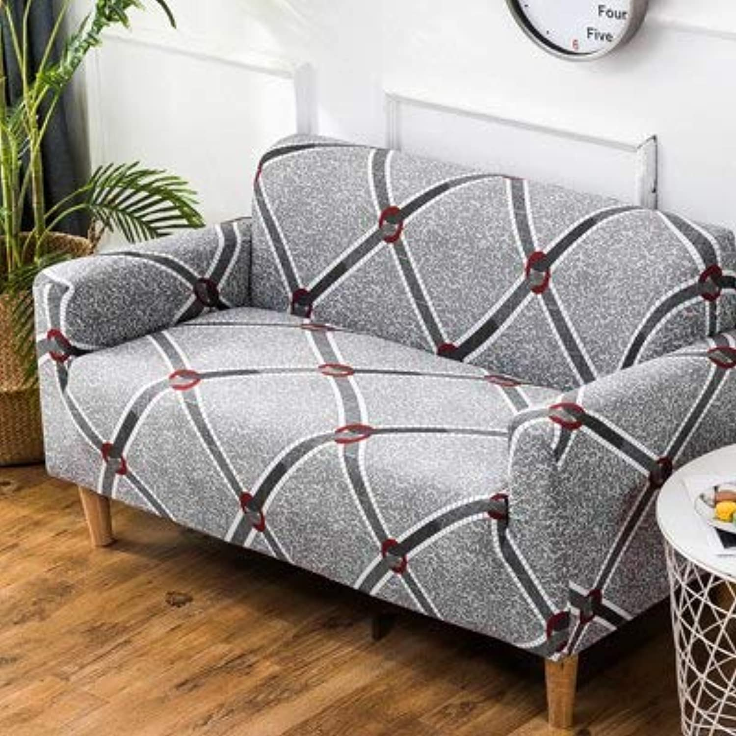 PlenTree Leaves Pattern Sofa Covers Elastic Stretch Universal Sectional Throw Couch Corner Cover Cases for Furniture Armchairs Home Deco  9, Single seat Sofa