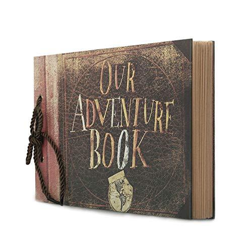 Potok Scrapbook 12x9 Fotoalbum, schwarze Seiten, ideal für Bastelpapier DIY Jahrestag, Hochzeit, Gästebuch, DIY Jahrestag Reisetagebuch Travel Book