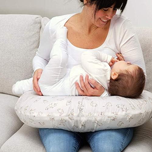 Ikea Len Cover for Nursing Pillow Rabbit Pattern White 23 ½x19 ¾x7 004.141.37
