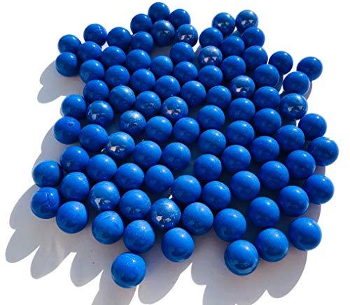 CRYSTAL KING Blau Matt Blaue Glasmurmeln Glaskugeln 16mm Durchmesser 500gr Dekokugeln Murmeln Murmel blau farbene Murmel Dekoglaskugel Dekoration Glaskügelchen