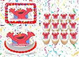 The Party Girl Elmo Cake Topper Edible Image Personalized Cupcakes Frosting Sugar Sheet (2' Cupcakes (12))