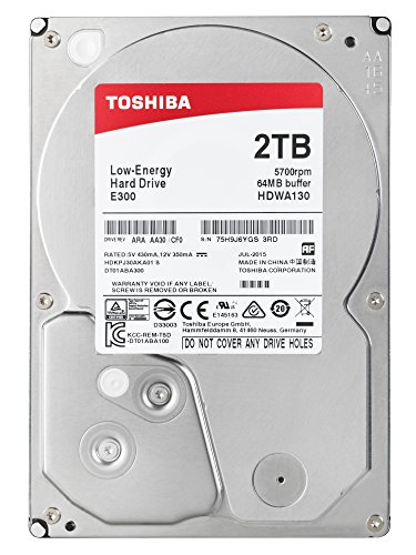 Toshiba E300 2 TB Low Energy Interne Festplatte (8,9 cm (3,5 Zoll), SATA) schwarz