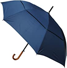 COLLAR AND CUFFS LONDON - Windproof EXTRA STRONG - StormDefender City Umbrella - Vented Canopy - Auto - Wood Handle