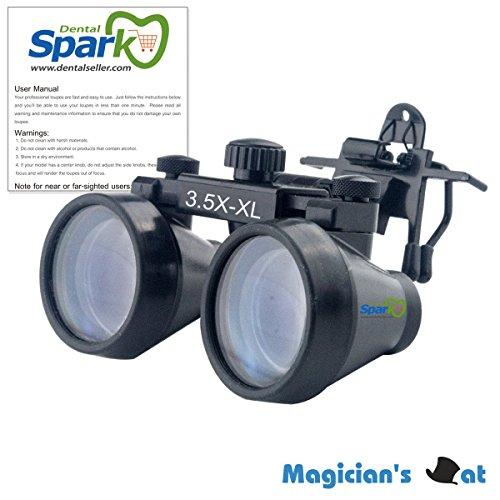 Spark クリップ付けルーペメガネ 3.5X医学外科手術精密作業専用 作業距離500-600mm CM350CO 製作 機械 作業 生物研究 開発 手術 歯科 医用 医者 眼科 外科にも使える 拡大鏡 虫眼鏡 双眼ルーペ 時計見ルーペ