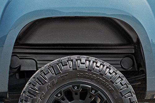 Rough Country Rear Wheel Well Liners Compatible w/ 2007-2013 Chevy Silverado 1500/2007-2010 2500 3500 HD 4207