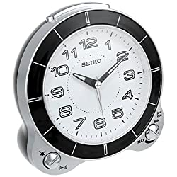 Seiko 5 Bedside Alarm Clock with Beep/Bell & Snooze