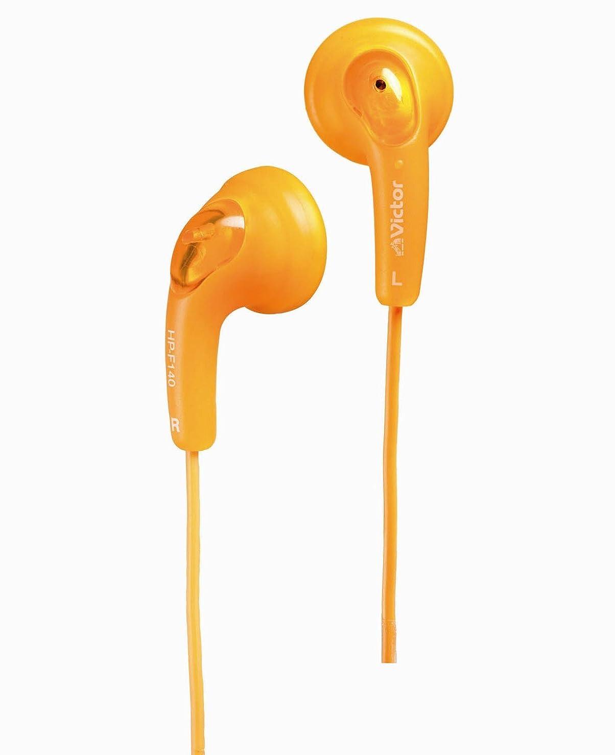 リスト医療の登録JVC HP-F140-D グミホン ステレオミニイヤホン オレンジ