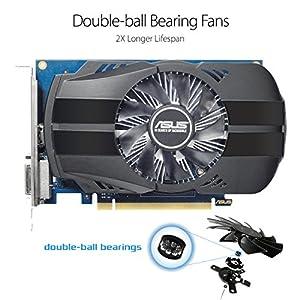 Asus Phoenix GeForce PH-GT1030-O2G Grafikkarte (Nvidia, PCIe 3.0, 2GB GDDR5 Speicher, HDMI, DVI)