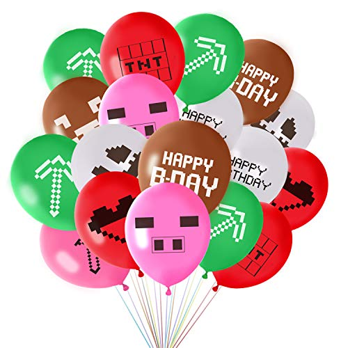 FEPITO 45 Pcs Mining Crafting Party Luftballons 12