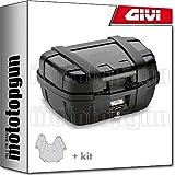 givi maleta trekker black line trk52n + porta-equipaje compatible con kawasaki versys 650 2019 19 2020 20