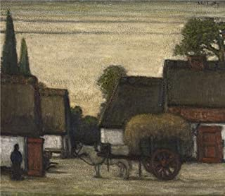 The High Quality Polyster Canvas Of Oil Painting 'Jakob Smits - Haycart,20th Century' ,size: 10x12 Inch / 25x29 Cm ,this High Resolution Art Decorative Canvas Prints Is Fit For Gym Artwork And Home Gallery Art And Gifts