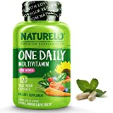 NATURELO One Daily Multivitamin for Women - Energy Support - Whole Food Supplement to Nourish Hair, Skin, Nails - Non-GMO - No Soy - Gluten Free - 120 Capsules | 4 Month Supply