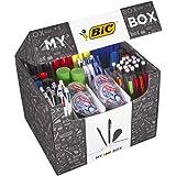 BIC 933953- Scatola di 124prodotti, con penne a sfera/portamine/correttori a nastro/pennarelli/evidenziatori