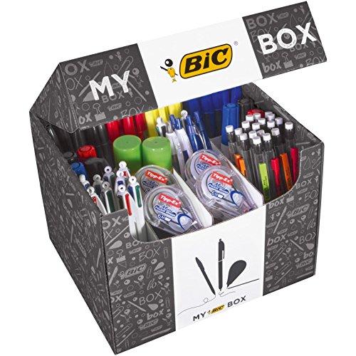 My BIC Box collectie van 124 schrijfgereiartikelen, 75 balpennen/24 vulpotloden/8 Tipp-Ex correctierollers/7 markers/8 markeerstiften/2 witte plaksticks (21 g)