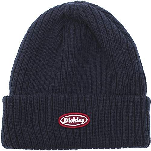 Dickies ディッキーズ CALIF リブ編み ニットキャップ ロゴ ワッペン ニット帽 ワッチキャップ 帽子 メンズ レディース ユニセックス アクリル ビーニー 無地 874 (フリーサイズ, (03)ネイビー)