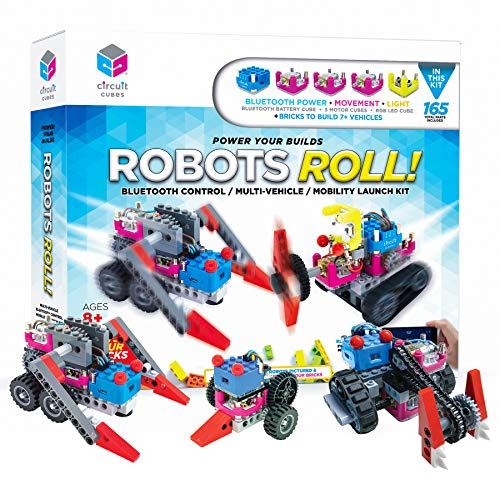 Circuit Cubes Robots ROLL! Bluetooth Mobility Power Kit - Engineering STEM Kit for Children and Adults