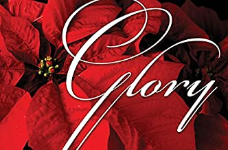 """Christmas Poinsettia/Glory Oversized Postcard (package of 50): """"Glory to God in the highest heaven, and on earth peace"""