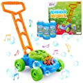 Bubble Mower For Toddlers - Bubble Mower - Lawn Mower Bubble Machine For Kids - Musical Push Toy & Bubbles Machine - Indoor & Outdoor Pretend Play - Educational Gift- 3 Bottles of 236 ml Soap Solution