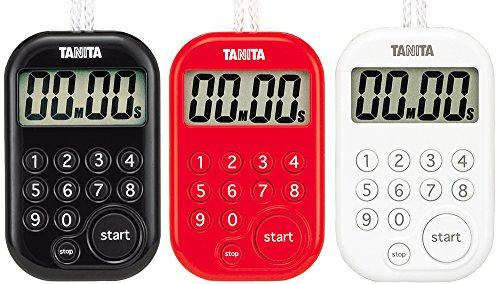 『タニタ(TANITA) キッチンタイマー(デジタル) ホワイト デジタルタイマー 100分計 TD-379-WH』のトップ画像
