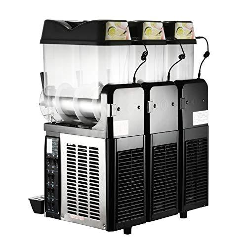 Moracle Máquina de Bebidas Congeladas Máquina de Granizados 3x12L Máquina de Bebidas Congeladas 3 Tanques para Uso Comercial y Doméstico