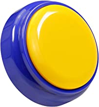 Recorder Button 30 Second, Recordable Talking Button with Good Sound Quality, Record Sound Button for Gift Toys Education (Yellow+Blue)