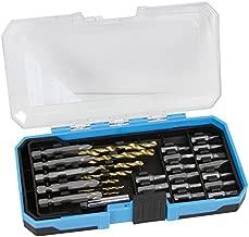 KUMA KU-20002 29 Pcs Multi-function HSS 4241 Titanium Coated High Speed Steel Twist Drill Bits & CR-V Screwdriver Bits Tool Set
