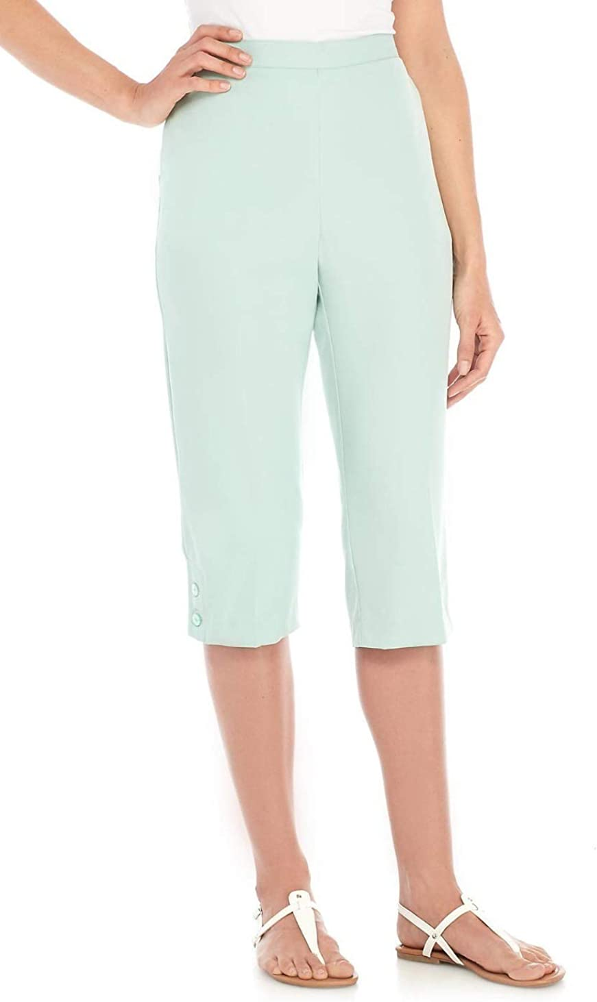 Alfred Dunner Womens Daydreamer Pull On Casual Capri Pants