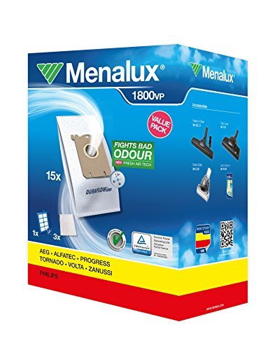 Menalux 1800VP - Vorteilspack - 15 Staubbeutel + Allergy Plus Filter + 3 Motorfilter