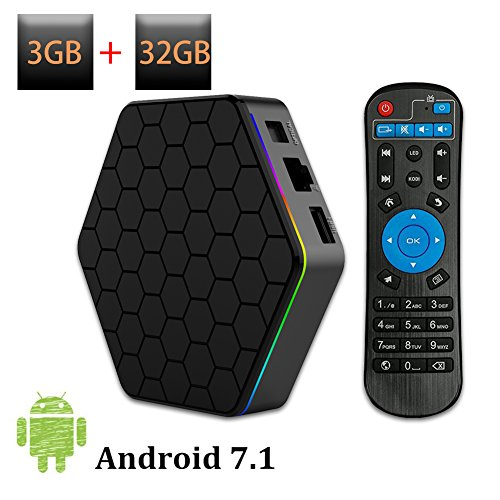 WEILY 2018 Newly Android TV Box T95Z Plus Android 7.1 con 3GB RAM 32GB ROM Amlogic Octa Core Media Player Support 4K Resolución 2.4G/5G Dual WiFi 1000M LAN BT 4.0
