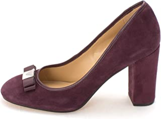 Michael Michael Kors Womens Caroline Leather Round Toe Classic Pumps