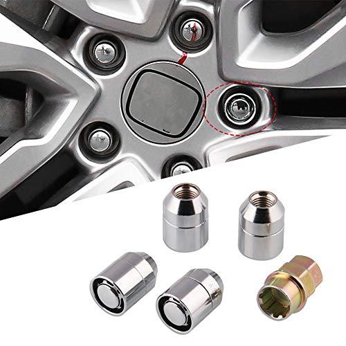 4Pcs M12x1.5 Tuerca de Rueda Lug Aleación de acero Antirrobo Cerradura de Seguridad Universal para Coche