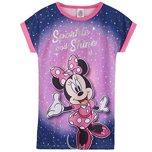 Disney Pijama Niña, Minnie Mouse Camison Niña de Manga Corta, Vestido Niña para Dormir, Ropa Niña de Estar en Casa, Regalos para Niñas Edad 2-12 Años (Rosa, 2-3 años)