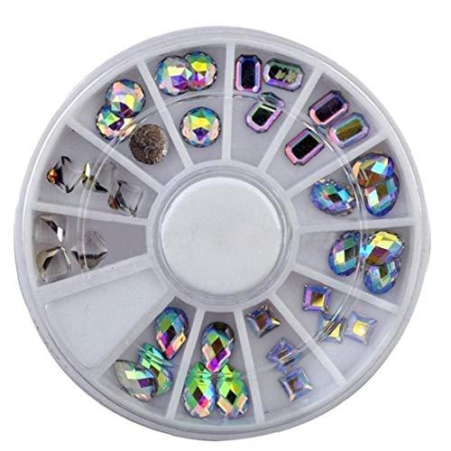 Nail Gems artificiels 36pcs Décoration Pierres pour Ongles maquillage et les vêtements Art